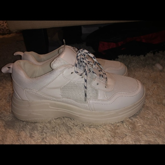 white platform sneakers target